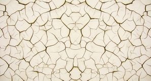 Texture of dry soil with numerous cracks of cream color royalty free stock photos