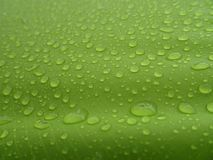 Texture: a drop of water on a green fabric. Water-repellent effect. Waterproof textile royalty free stock photos