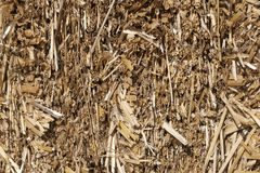 Texture of dry straw in the bale. background. Royalty Free Stock Photo