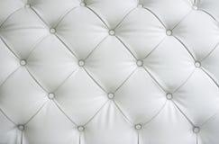 Texture du cuir blanc Photo libre de droits