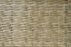 Texture du détail en bambou de travail manuel, texture et fond Image stock