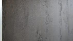 Texture du mur avec le plâtre fait main gris banque de vidéos