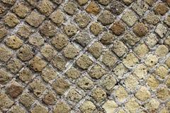 Texture du mur de briques blanc de roche photos libres de droits