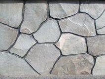 Texture du mur en pierre gris 4 Photographie stock libre de droits