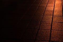 Texture du noir en cuir Photographie stock libre de droits