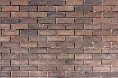 Texture du vieux mur de briques de brun de plan rapproché image libre de droits
