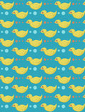 Texture with  ducks. Yellow blue texture with ducks Stock Photo