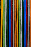 Texture of dyed bamboo sticks Royalty Free Stock Images