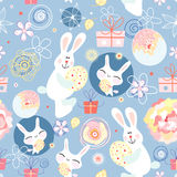 Texture Easter bunnies Stock Photo