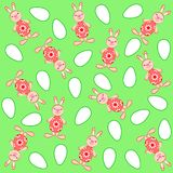 Texture. Easter motives. Rabbits and eggs vector illustration