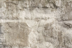 Texture of an embossed antique concrete wall with cracks and a ruined plaster protective layer Stock Photography