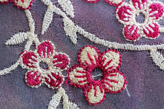 Texture embroidery Stock Photography