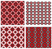 Texture embroidery ukrainian Royalty Free Stock Photography