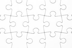 Texture. Empty white jigsaw puzzle Royalty Free Stock Image