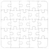 Texture. Empty white jigsaw puzzle Royalty Free Stock Images