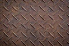 Texture en acier de plat de diamant Photo libre de droits