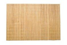 Texture en bambou de fond de tapis de table Photographie stock libre de droits