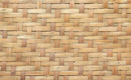 Texture en bambou de tapis de Brown Photos libres de droits