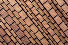 Texture en bambou sèche sous forme de petite collection de rectangles de légume et de fibres naturelles images libres de droits