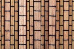Texture en bambou sèche sous forme de petite collection de rectangles de légume et de fibres naturelles photos stock