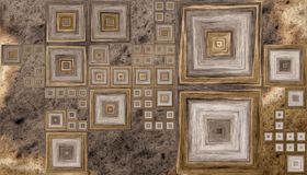 Texture en bois abstraite colorée Photos libres de droits