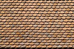 Texture en bois asiatique de toit Images libres de droits