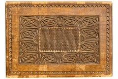 Texture en bois avec l'ornement Photo libre de droits