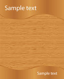 Texture en bois avec le texte témoin Images libres de droits