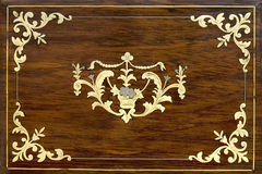 Texture en bois avec un ornement Image stock