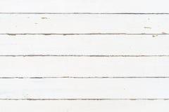 Texture en bois blanche de mur comme fond Photographie stock libre de droits