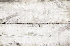 Texture en bois blanche, vue supérieure de table en bois Fermez-vous du fond rustique color? de mur, texture de vieille table sup image libre de droits