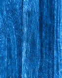 Texture en bois bleue Photos libres de droits