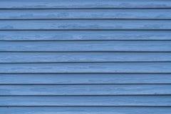 Texture en bois bleue de fond de maison de voie de garage photo libre de droits