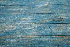 Texture en bois bleue de fond de vintage avec des noeuds et des trous de clou Vieux bois peint Fond abstrait bleu photo libre de droits