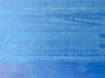 Texture en bois bleue de fond de vintage avec des noeuds et des trous de clou Vieux bois peint Fond abstrait bleu image stock