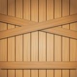 Texture en bois brun clair de fond de vecteur Images libres de droits