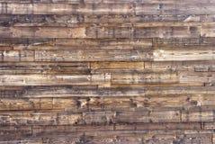 Texture en bois brun clair Panneaux en bois foncés de fond vieux Photos libres de droits