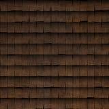 Texture en bois carrelée de toit de bardeau Image libre de droits