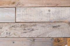 Texture en bois détaillée Vieux mur en bois superficiel par les agents avec le fond rouillé de clous Photos libres de droits