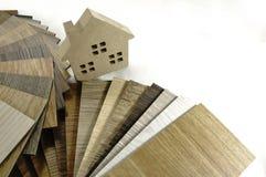 Texture en bois d'échantillon pour la maison de décoration Petit boa témoin de couleur Images stock
