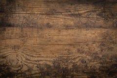 Texture en bois de Brown abrégez le fond Photographie stock