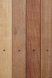 Texture en bois de Brown avec la tête du clou Photo stock