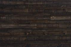 Texture en bois de brun foncé vieux panneaux de fond Images stock