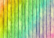 Texture en bois de conception de panneaux de couleur d'arc-en-ciel Images libres de droits