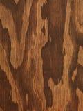 Texture en bois de contreplaqué de Brown Photos libres de droits