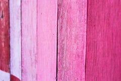 Texture en bois de fond de conseil peinte par rose Photo libre de droits