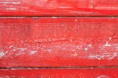 Texture en bois de fond de conseil peinte par rouge Photo libre de droits