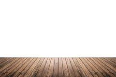 Texture en bois de plancher d'isolement sur le fond blanc Photos stock