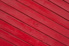Texture en bois de planches peinte par rouge Photo stock