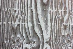 Texture en bois grunge de fond de peinture blanche Flakey images libres de droits